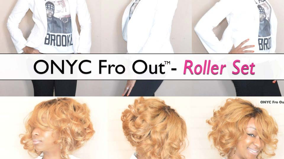 Reniece Showcasing Fro Out Rollerset
