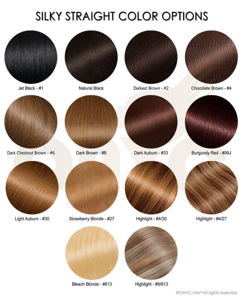 Silky Straight Color Options
