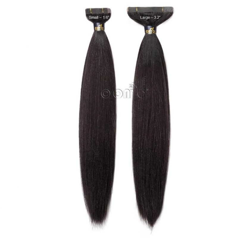Straight Tape Hair Extensions ONYC Light Relaxed2