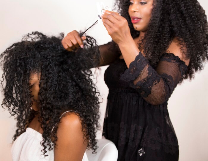 Thelma Okoro ONYC CEO Get A Professional Hairstylist Cutting Techniques For Curly Hair