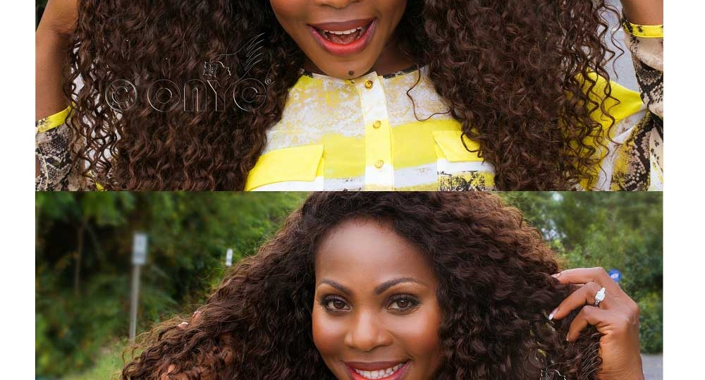 Curly Weave Hair Style ONYC Curly Hair Extension Gallery Thelma Okoro Wearng ONYC Hair Curly Addiction 3B