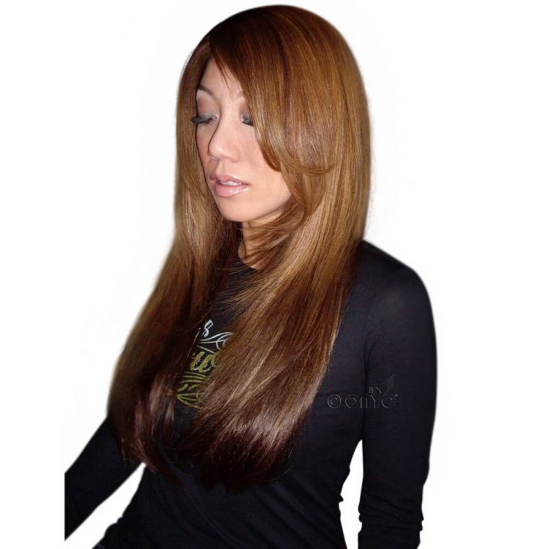 Virgin 1B Silky Straight Colored Hair Extensions