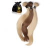 Virgin 1B Silky Straight Colored Hair Extensions Product