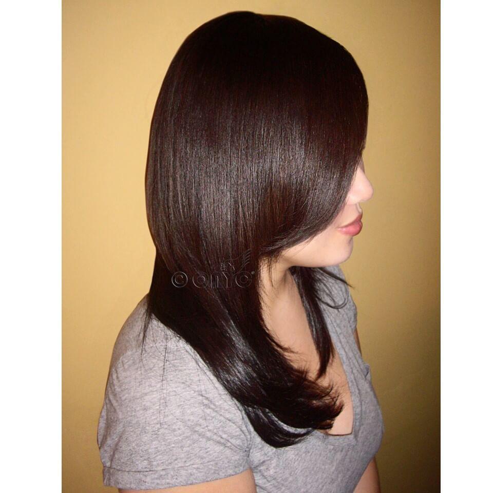 Straight Weave Hair Styles ONYC Silky Straight Hair Gallery Virgin 1B Machine Weft Sewin By Thelma