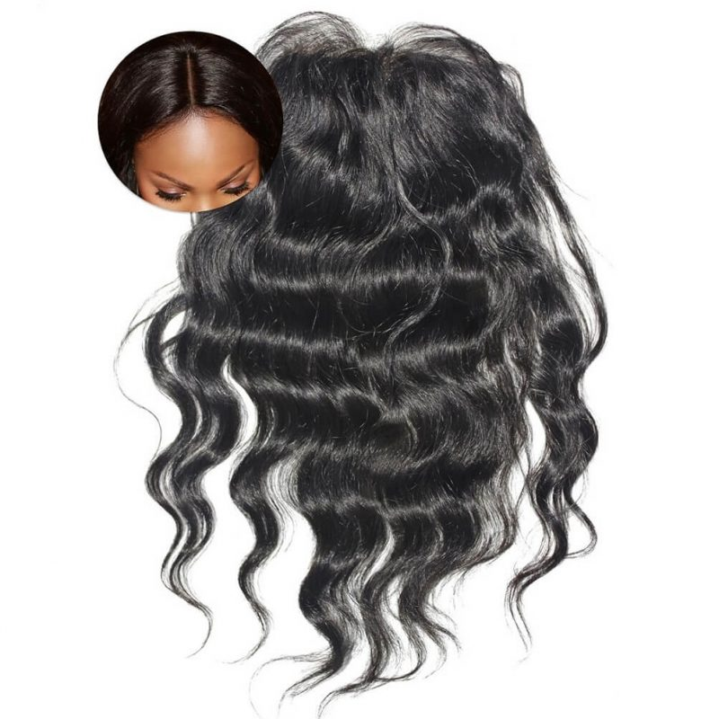 Virgin Wavy Hair Extensions ONYC Body 2 Wavy Closure