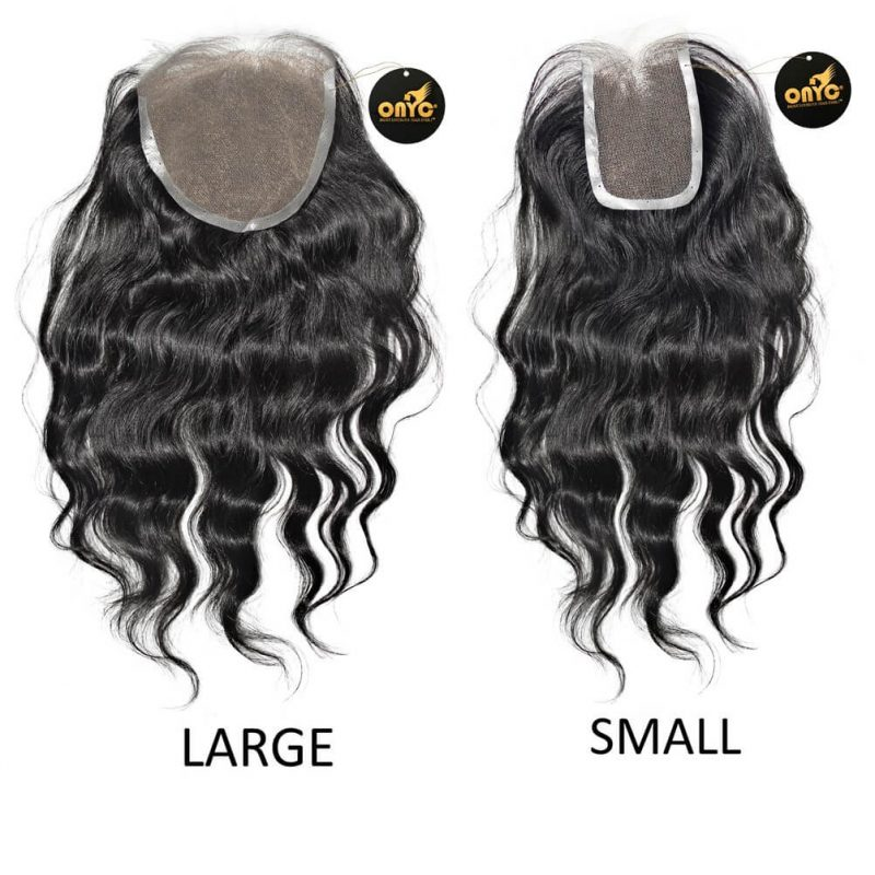 Virgin Wavy Hair Extensions ONYC Body 2 Wavy Frontal Closure Small And Arge Lace View