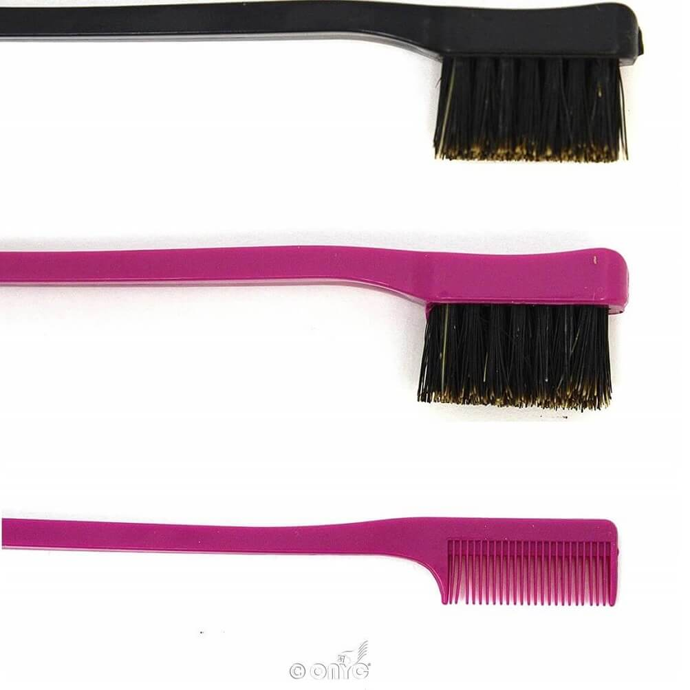 Double Sided Edge Control Hair Brush Comb is the ideal accessory to achieve the perfect Edge! It is portable, only 7'' in length so it can fit in your bag.