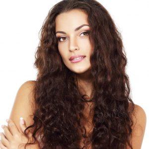 virgin indian wavy hair Extension Indian Wavy2b 2c Machine Weft Onyc Hair