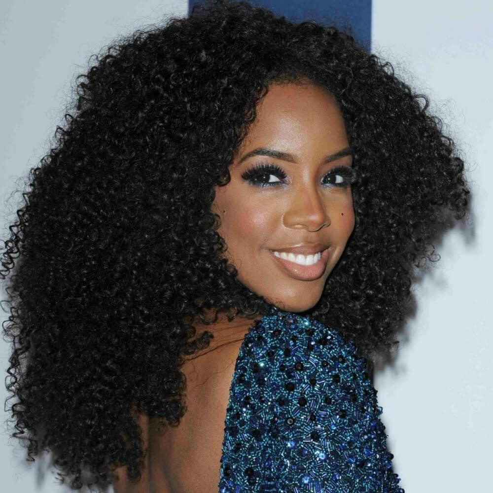 Celeb Inspired Holiday Hairstyles Kelly rowland Voluminous Curls