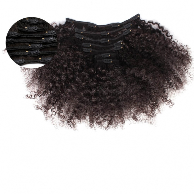 Kinky Curl 3c4a Clip In Hair Extension 3