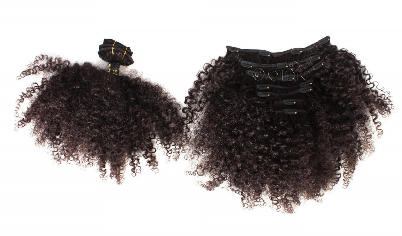 Kinky Curl 3c4a Clip In Hair Extension 4