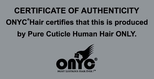 ONYC Hair Certificate Of Authenticity