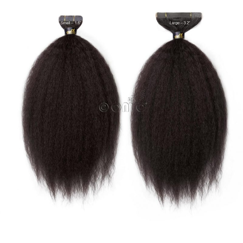 Onyc Fro Out Kinky Straight Tape Hair Extensions Small And Large
