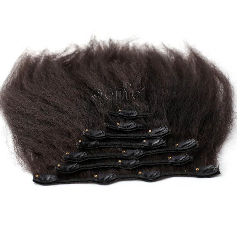 Onyc 7 Piece Clip In Fro Out Kinky Straight Hair