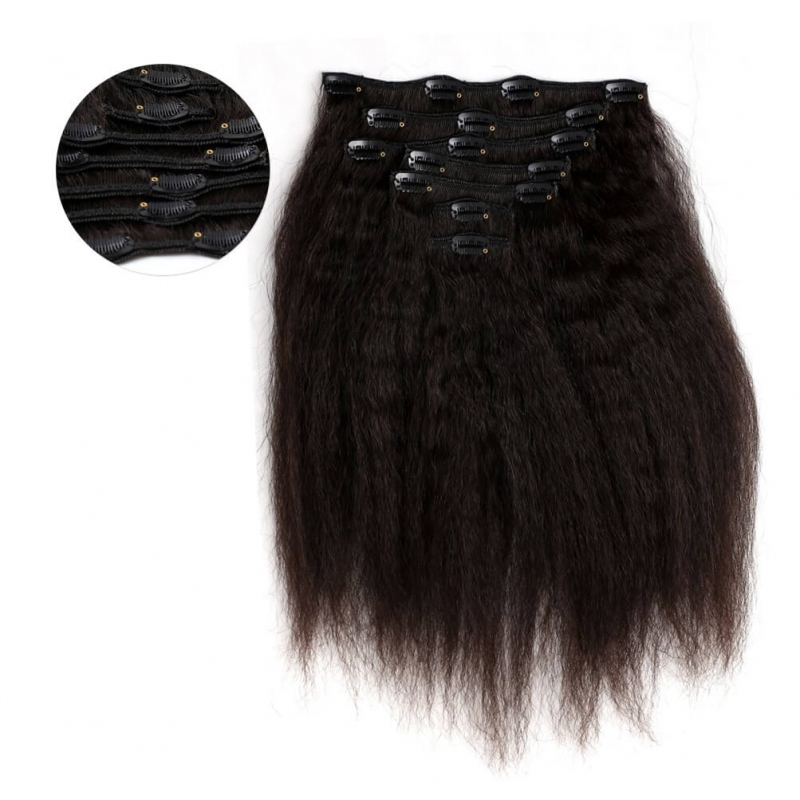 Onyc 7 Piece Clip In Fro Out Kinky Straight Hair Feautured