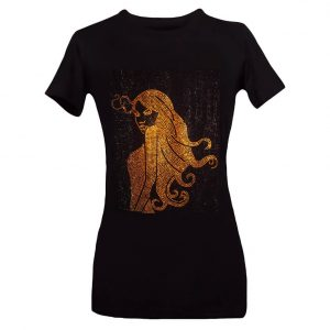 Bedazzled Tee Gold Embellishments Onyc Bedazzled T Shirt Bling T shirt