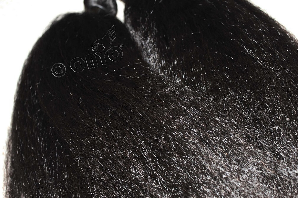 Onyc Fro Out Kinky Straight Texture Up Close Natural Kinky Straight Virgin Hair weave