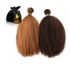 colored kinky straight hair Onyc Fro Out Machine Weft Onyc Kinky Straight Golden Collection