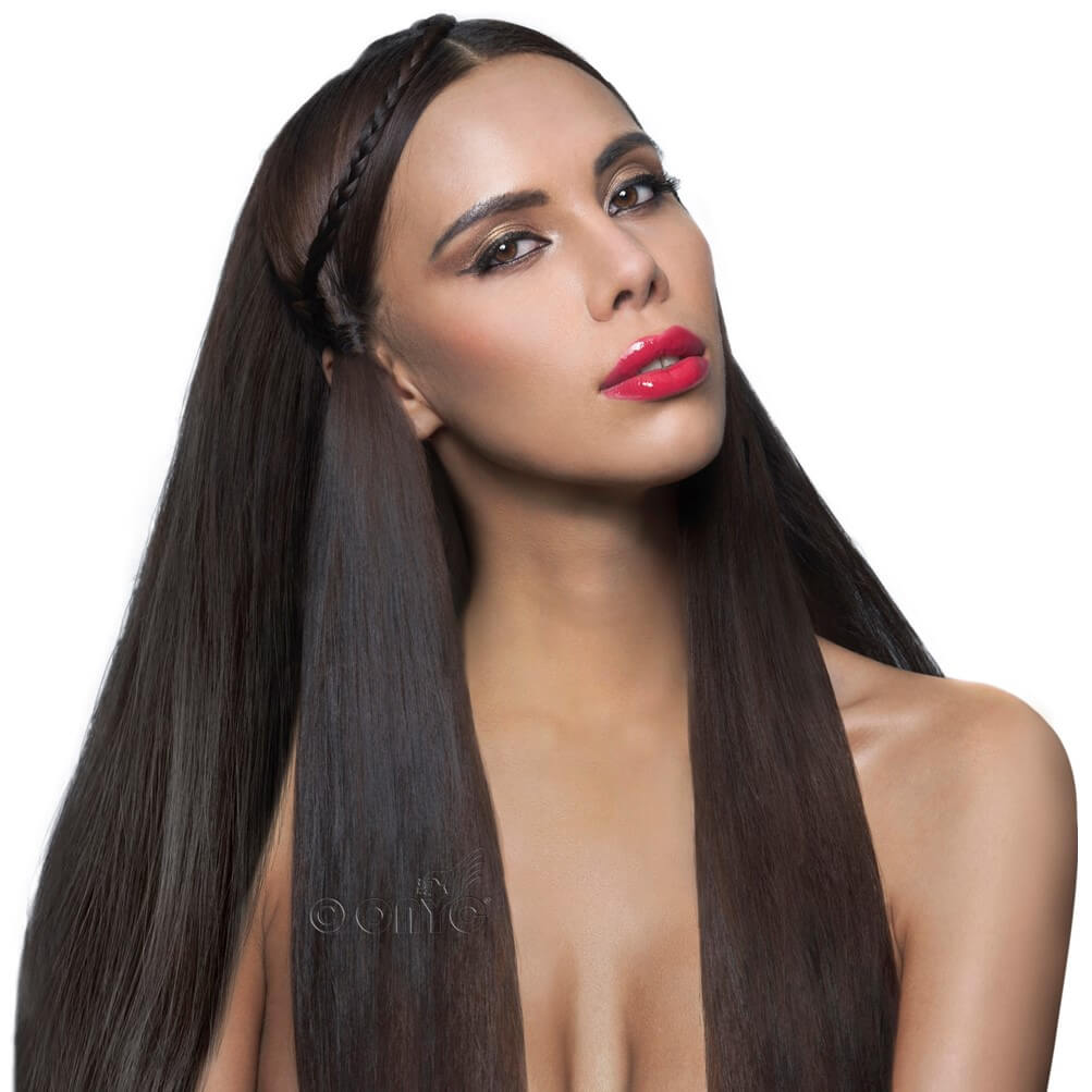 Pure Cuticle Best Silky Straight Virgin Hair. Raw Mongolian Virgin Hair with lots of shine! Onyc Hair Virgin 1b Natural Straight Hair Model