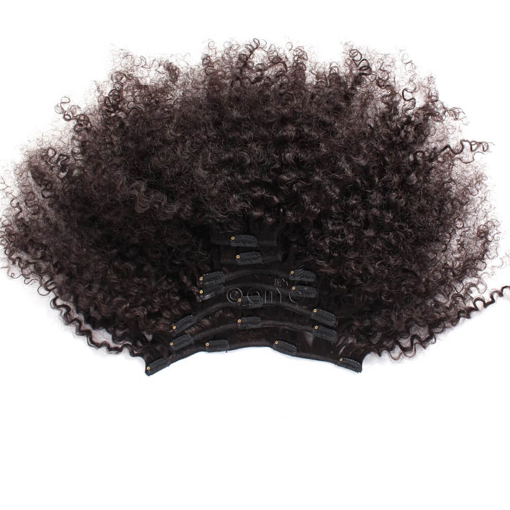 Afro Tight Kinky Clip in Hair Extensions Onyc Kinky Curl 3c4a Clip In Hair Extension