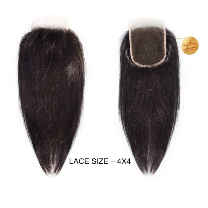 Onyc Sassy Remy Silky Straight Closure Front Back