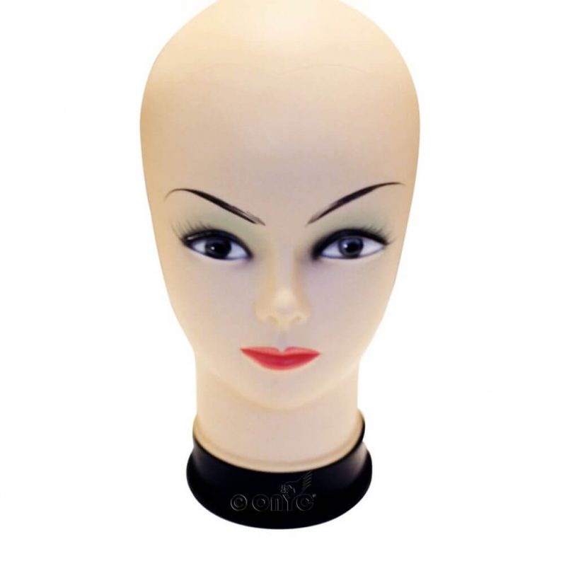 Onyc Soft Bald Mannequin Head Beige Female Professional Cosmetology For Wig Making With T Pin2